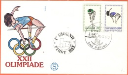 SAN MARINO - 1980 - XXII Olimpiade - FDC - Filagrano - FDC