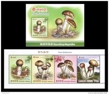 North Korea 2017 Mih. 6385/88 Flora. Matsutake (Pine Mushrooms) (booklet) MNH ** - Corea Del Norte