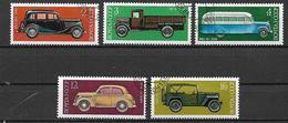 RUSSIA 1975 AUTOMOBILI COSTRUITE IN RUSSIA YVERT. 4145-4149 USATA VF - 1923-1991 URSS