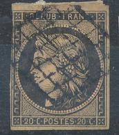 N°3 SUR RESTE DE FRAGMENT. - 1849-1850 Cérès
