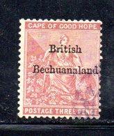 XP2698 - BECHUANALAND 1886 , Yvert N. 8  Usato  Fil CA - Bechuanaland (...-1966)