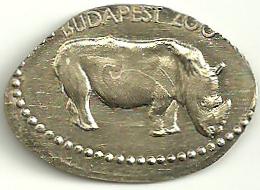RHINOCEROS * RHINO * ANIMAL * TOKEN * Budapest Zoo Rhino 05 * Hungary - Other