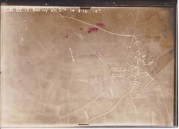 GUERRE 1914-1918 - Bataille De La Somme - Photo Aérienne BELLOY-EN-SANTERRE Le 14.3.1916 à 12h - War, Military