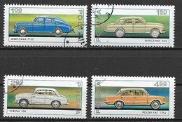 POLONIA 1976 AUTOMOBILI YVERT. 2299-2302 USATA VF - 1944-.... Repubblica