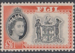 Fiji SG 310 1959-63 Queen Elizabeth II Definitives, One Dollar, Mint Never Hinged - Fiji (...-1970)