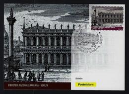 """2016 ITALIA REPUBBLICA """"BIBLIOTECA NAZIONALE MARCIANA"""" CARTOLINA FILATELICA (ANN. VENEZIA) - 6. 1946-.. Repubblica"""