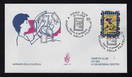 """2008 ITALIA """"GIORNATA DELLA FILATELIA"""" FDC VENETIA - 6. 1946-.. Repubblica"""