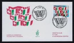 """2009 ITALIA """"CENTENARIO ISTITUZIONE CAMERA DI COMMERCIO ITALIANA PER LA SVIZZERA"""" FDC VENETIA - 6. 1946-.. Repubblica"""