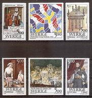 Schweden Mi.Nr. 1817-1822 ** Kulturelle Beziehungen Zwischen Schweden Und Frankreich 1994 (del1#0059) - Ungebraucht