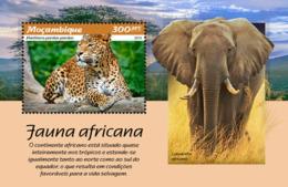 Mozambique  2019 African Fauna   Leopard   , Elephant  S201902 - Mozambique