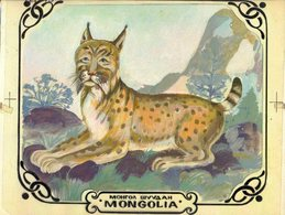MONGOLIA 1979 Lynx Stamp Artist's Original Pre-study Issued_30F 241/194mm - Mongolie