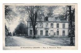 CREUSE  /  SAINT-SULPICE-les-CHAMPS  /  PLACE  DU  MONUMENT , MAIRIE - Other Municipalities