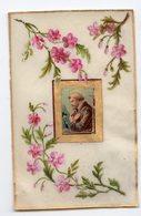 IMAGE RELIGIEUSE EN CELLULOID TRES FIN  AQUARELLE FLEURS - Images Religieuses