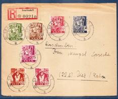 SARRE 1947- Enveloppe Ayant Circulée En Recommandé En 13.07.1947. - Rare à SAISIR ................. - France (ex-colonies & Protectorats)