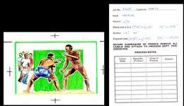 SENEGAL 1987 African Style Wrestling Artist's Original Issued 319/249mm - Sénégal (1960-...)