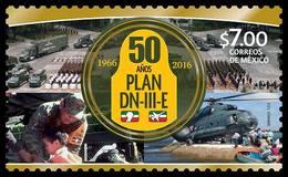 2016 MÉXICO Plan DN-III-E AYUDA Ejército Y Fuerza Aérea MNH Civilian Disaster Aid Plan, Mexican Army And AIR FORCE - Mexique