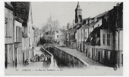 AMIENS EN 1916 - N° 53 - LA RUE DES TANNEURS AVEC ENFANTS - CPA VOYAGEE - Amiens