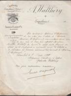 Reconnaissance De Dette Gabrielle Walthéry Schaerbeek 7 Août 1918 (?) Sur Lettre Entête Armurerie (à Erquellines Et Jeum - Belgio