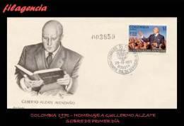 AMERICA. COLOMBIA SPD-FDC. 1971 HOMENAJE AL POLÍTICO GUILLERMO ALZATE - Colombie