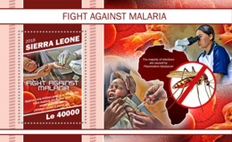 Sierra Leone   2018   Fight Against Malaria , Map Of  Africa  S201902 - Sierra Leone (1961-...)