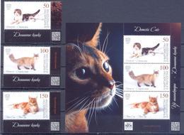 2019. Kyrgyzstan, Domestic Cats, 4v + S/s, Mint/** - Kirgisistan