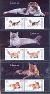 2019. Kyrgyzstan, Domestic Cats, 2 Sets Se-tenant, Mint/** - Kirgisistan