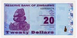 ZIMBABWE 20 DOLLARS 2009 Pick 95 Unc - Zimbabwe
