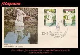 AMERICA. COLOMBIA SPD-FDC. 1972 MONUMENTO LA REBECA EN BOGOTÁ - Colombie
