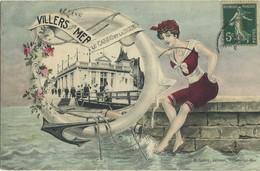 CPA 14 Villers Sur Mer Le Casino Et La Digue 1907 Edition Leroy Carte Rare - Villers Sur Mer