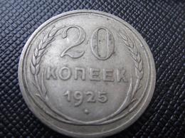 RUSSIA 1925 RUSSIAN Soviet USSR SILVER COIN 20 Kopeks - Kopeek - Russie