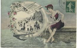 CPA 14 Villers Sur Mer Les Planches 1907 Edition Leroy Carte Rare - Villers Sur Mer