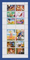 Walt Disney Entenhausen Block Mit 12 Briefmarken Donald Duck, Goofy, Micky Mouse, Roger Rabbit (2) - Disney