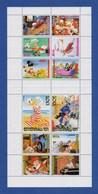 Walt Disney Entenhausen Block Mit 12 Briefmarken Donald Duck, Goofy, Micky Mouse, Roger Rabbit (2-1) - Disney