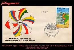 AMERICA. COLOMBIA SPD-FDC. 1974 REUNIÓN DE MINISTROS DE COMUNICACIONES DEL GRUPO ANDINO - Colombie