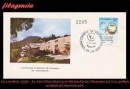 AMERICA. COLOMBIA SPD-FDC. 1976 90 AÑOS DE LA UNIVERSIDAD EXTERNADO DE COLOMBIA - Colombie