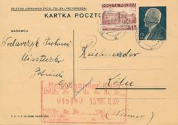 MIASTECZKO - 1939 , KARTA POCZTOWA , Ganzsache Nach Köln An Den Reichssender (Radio) - Entiers Postaux