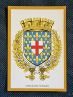 CPA.doullens.SOMME.BLASON.ARMOIRIES. ECUSSON - Doullens