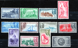 BARBADOS  1950 KGVI  SET  MH - Barbados (...-1966)