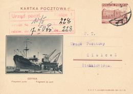 GDYNIA - 1938 , KARTA POCZTOWA , BPK  GDYNIA   Teil Des Hafens -  Nach Kielce - Entiers Postaux