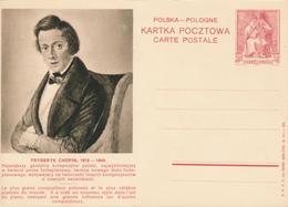 POLEN / POSKA / POLOGNE - 1938 , KARTA POCZTOWA - CARTE POSTALE , BPK  Frederik Chopin - Entiers Postaux