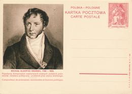 POLEN / POSKA / POLOGNE - 1938 , KARTA POCZTOWA - CARTE POSTALE , BPK  Michal Kleofas Oginski - Entiers Postaux