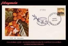 AMERICA. COLOMBIA SPD-FDC. 1977 EMISIÓN PERMANENTE. RAMA DE CAFETO - Colombie