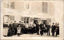 Commerce - Café BILLARD - (pliée) Carte Photo - Coiffeur Mé - Cafés