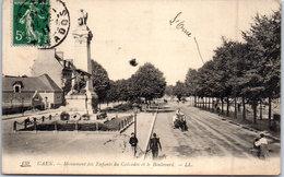 14 CAEN - Monument Des Enfants Du Calvados Et Le Boulevard - Caen