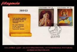 AMERICA. COLOMBIA SPD-FDC. 1977 PINTURA COLOMBIANA DEL SIGLO XX - Colombie