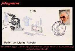 AMERICA. COLOMBIA SPD-FDC. 1977 HOMENAJE AL BACTERIÓLOGO FEDERICO LLERAS ACOSTA - Colombie
