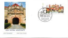 """BRD Schmuck-FDC """"1000 Jahre Kronach"""", Mi. 2309 ESSt 16.1.2003 BONN - [7] République Fédérale"""