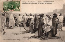 AFRIQUE OCCIDENTALE - SOUDAN - TOMBOUCTOU CHAMELIERS APPORTANT LE SEL SUR LE MARCHE - Mauritanie