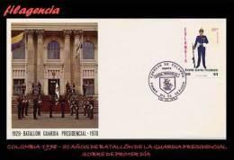 AMERICA. COLOMBIA SPD-FDC. 1978 150 AÑOS DEL BATALLÓN DE LA GUARDIA PRESIDENCIAL - Colombie