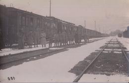 CARTE PHOTO ALLEMANDE - GUERRE 14-18 - ROUMANIE - ORSOVA - GARE - Guerre 1914-18